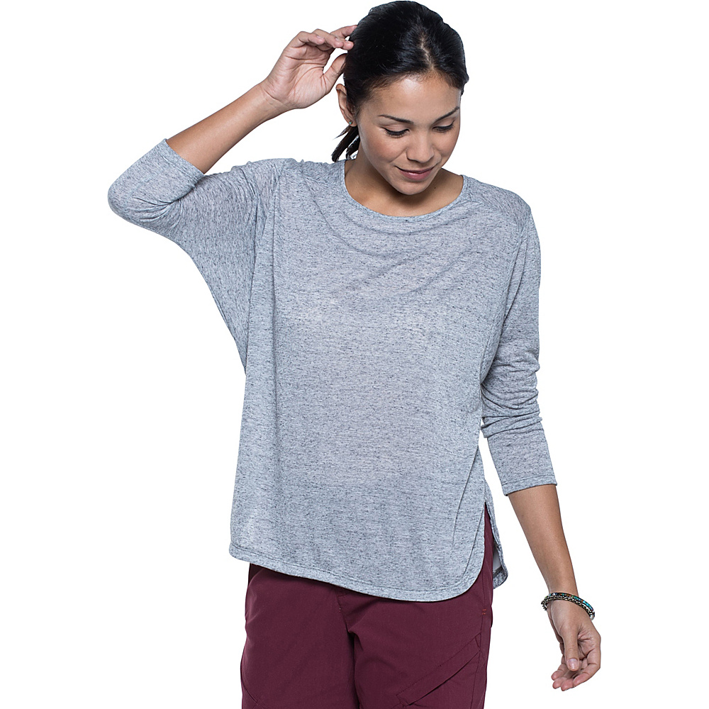 Toad & Co Ember 3/4 Sleeve Tee S - Smoke - Toad & Co Womens Apparel - Apparel & Footwear, Women's Apparel