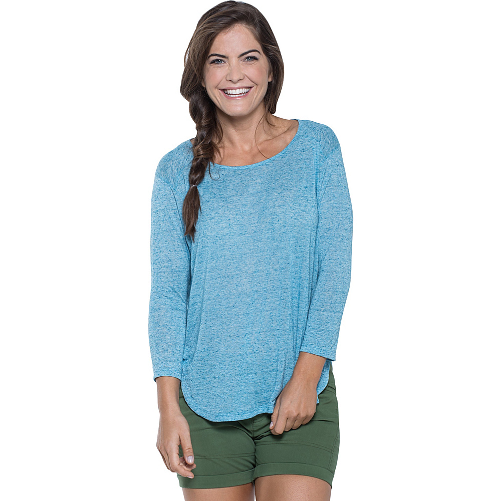 Toad & Co Ember 3/4 Sleeve Tee M - Seaport - Toad & Co Womens Apparel - Apparel & Footwear, Women's Apparel