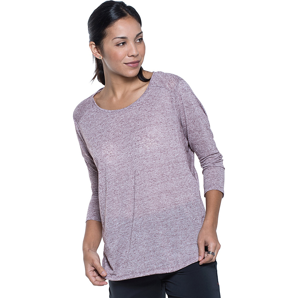 Toad & Co Ember 3/4 Sleeve Tee XL - Sangria - Toad & Co Womens Apparel - Apparel & Footwear, Women's Apparel