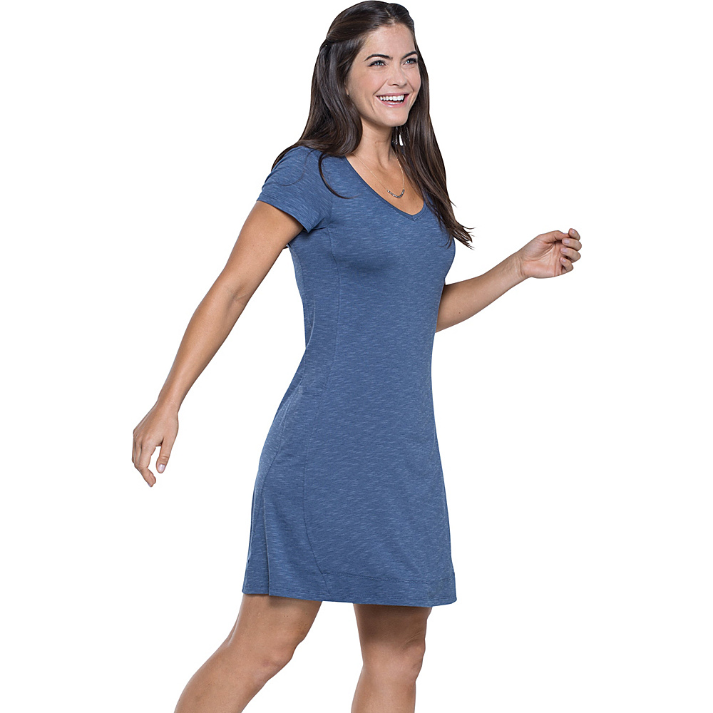 Toad & Co Marley Short Sleeve Dress M - Indigo - Toad & Co Womens Apparel - Apparel & Footwear, Women's Apparel