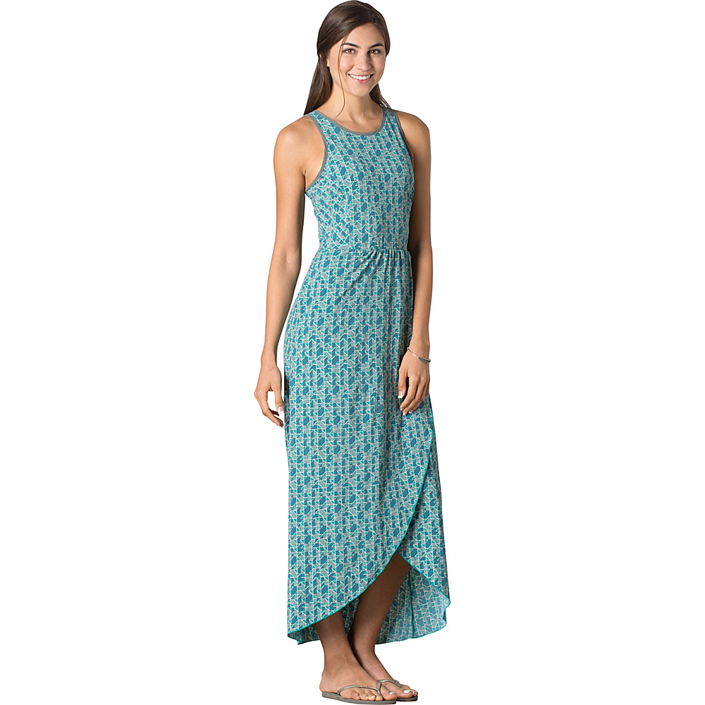 Toad & Co Sunkissed Maxi Dress M - Turquoise Cove Vine Print - Toad & Co Womens Apparel - Apparel & Footwear, Women's Apparel