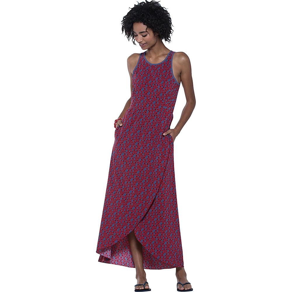 Toad & Co Sunkissed Maxi Dress XL - Indigo Vine Print - Toad & Co Womens Apparel - Apparel & Footwear, Women's Apparel