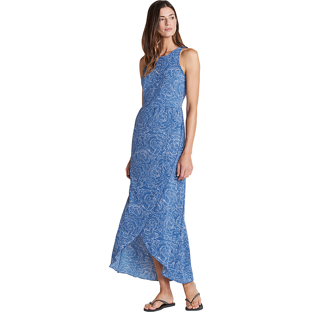 Toad & Co Sunkissed Maxi Dress XL - Blueberry Batik Floral Print - Toad & Co Womens Apparel - Apparel & Footwear, Women's Apparel