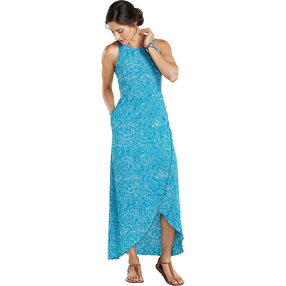 Toad & Co Sunkissed Maxi Dress XS - Deepwater Batik Floral Print - Toad & Co Womens Apparel - Apparel & Footwear, Women's Apparel