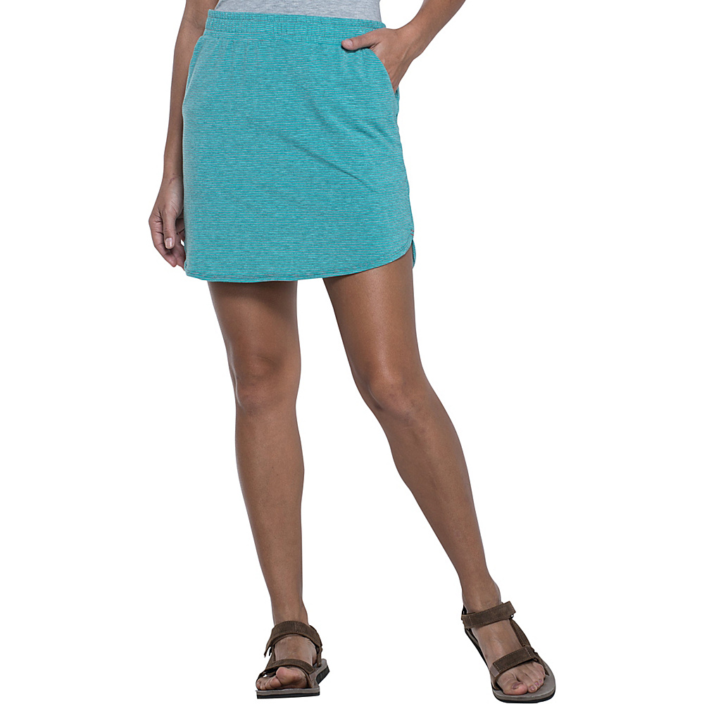 Toad & Co Swifty Trail Skirt M - Turquoise Cove Stripe - Toad & Co Mens Apparel - Apparel & Footwear, Men's Apparel