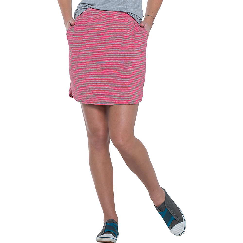 Toad & Co Swifty Trail Skirt L - Parakeet Red Stripe - Toad & Co Mens Apparel - Apparel & Footwear, Men's Apparel