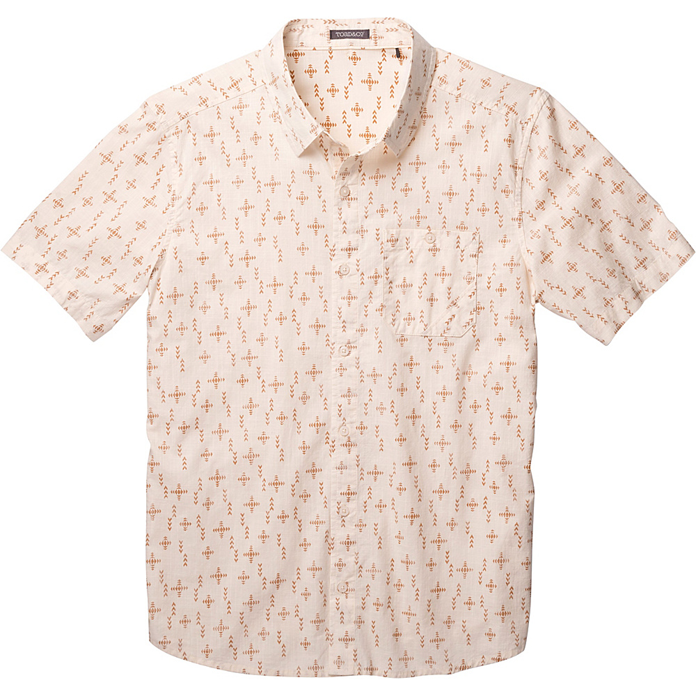 Toad & Co Fletch Print Short Sleeve Shirt L - Salt Print - Toad & Co Mens Apparel - Apparel & Footwear, Men's Apparel