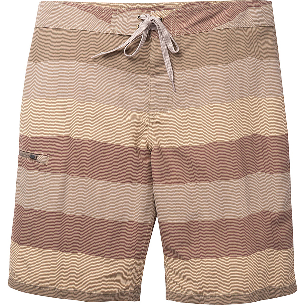 Toad & Co Cetacean Swim Trunk 31 - 9.5in - Dark Chino Stripe - Toad & Co Mens Apparel - Apparel & Footwear, Men's Apparel