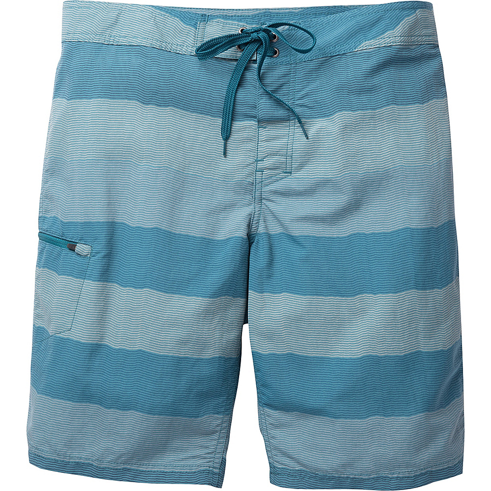 Toad & Co Cetacean Swim Trunk 31 - 9.5in - Hydro Stripe - Toad & Co Mens Apparel - Apparel & Footwear, Men's Apparel
