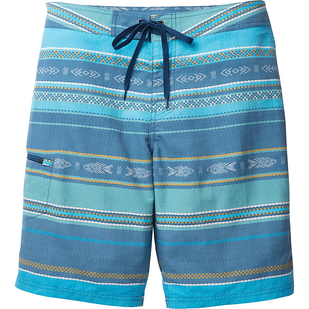 Toad & Co Cetacean Swim Trunk 33 - 9.5in - Blue Abyss Weave Print - Toad & Co Mens Apparel - Apparel & Footwear, Men's Apparel