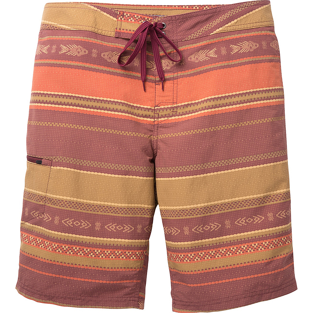 Toad & Co Cetacean Swim Trunk 30 - 9.5in - Sangria Weave Print - Toad & Co Mens Apparel - Apparel & Footwear, Men's Apparel