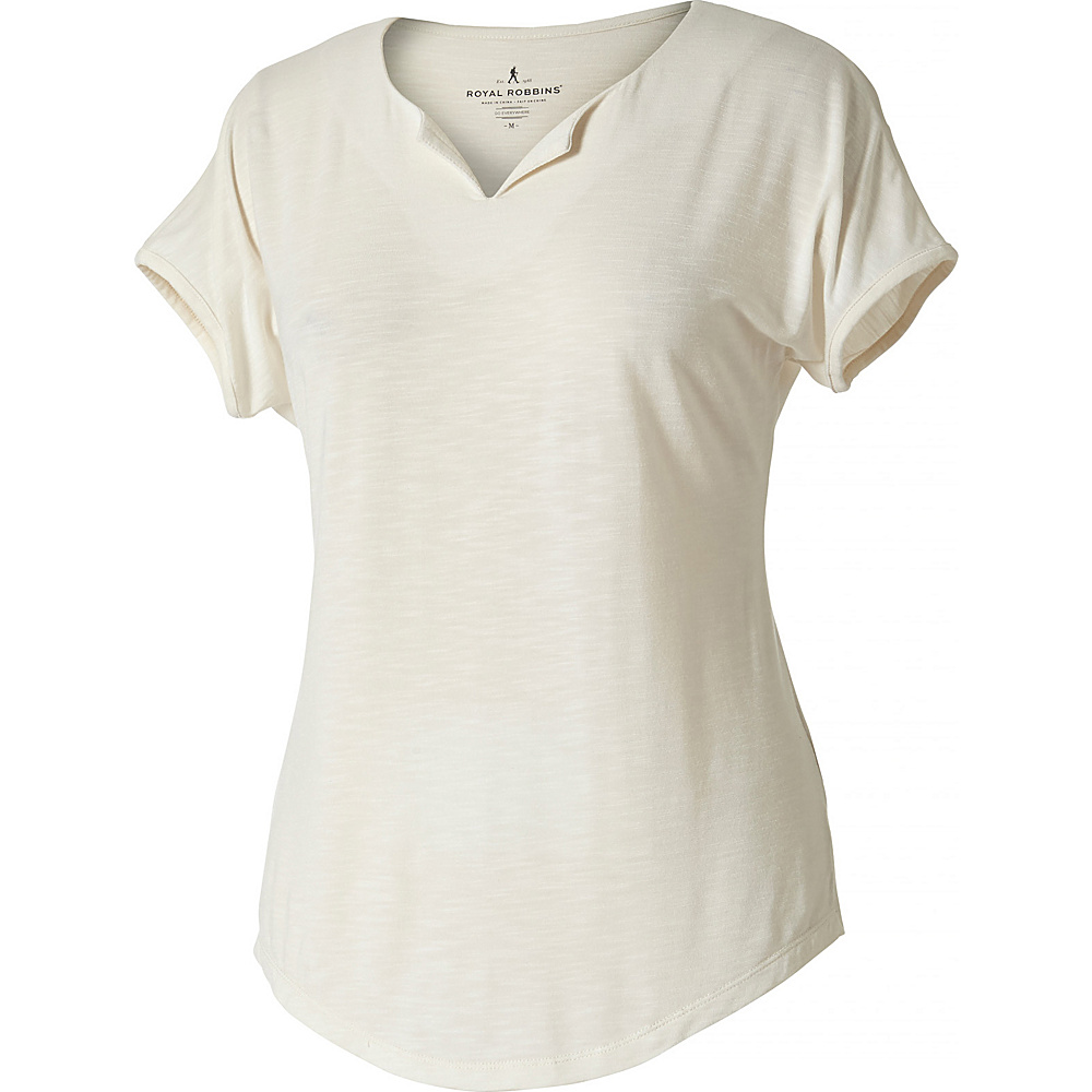 Royal Robbins Womens Noe Cap Sleeve Tee S - Creme - Royal Robbins Womens Apparel - Apparel & Footwear, Women's Apparel