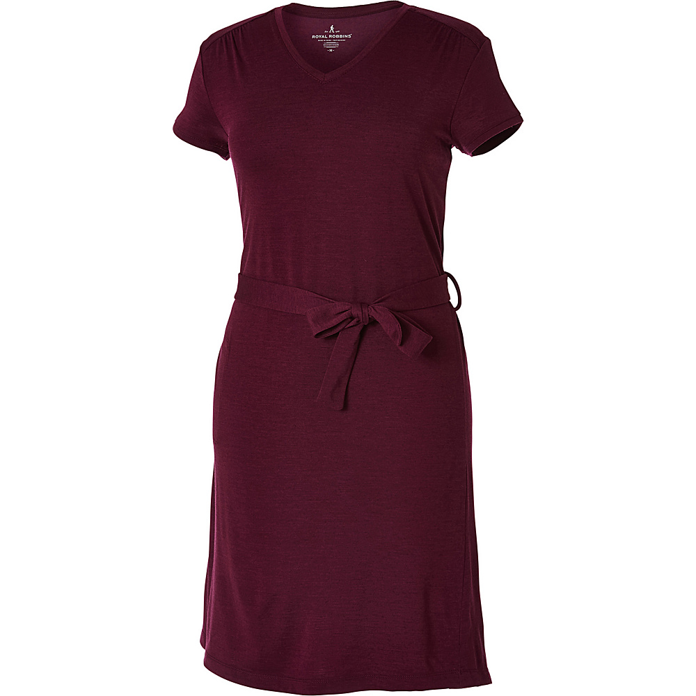Royal Robbins Womens Merinolux Dress S - Plum Wine - Royal Robbins Womens Apparel - Apparel & Footwear, Women's Apparel