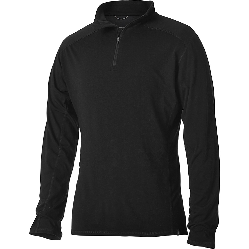 Royal Robbins Mens Merinolux 1/4 Zip S - Jet Black - Royal Robbins Mens Apparel - Apparel & Footwear, Men's Apparel