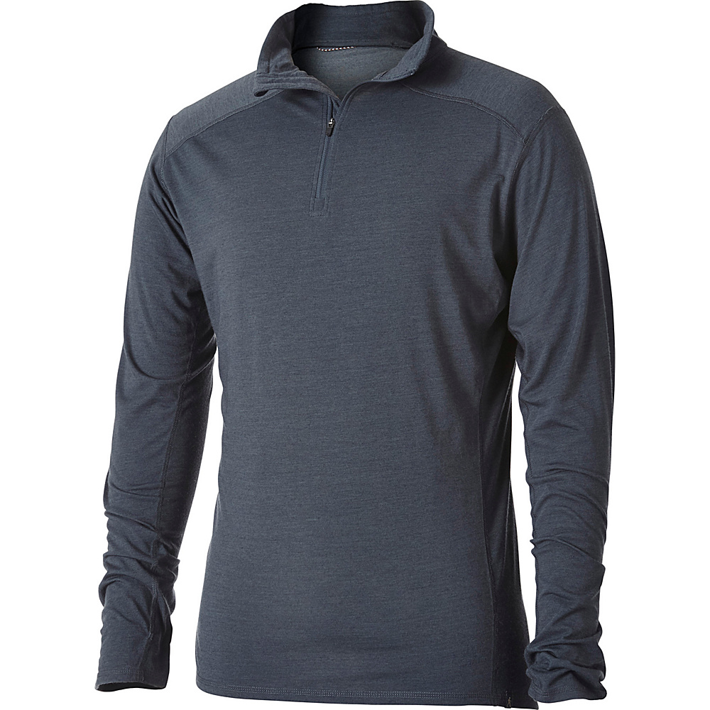 Royal Robbins Mens Merinolux 1/4 Zip S - Slate - Royal Robbins Mens Apparel - Apparel & Footwear, Men's Apparel