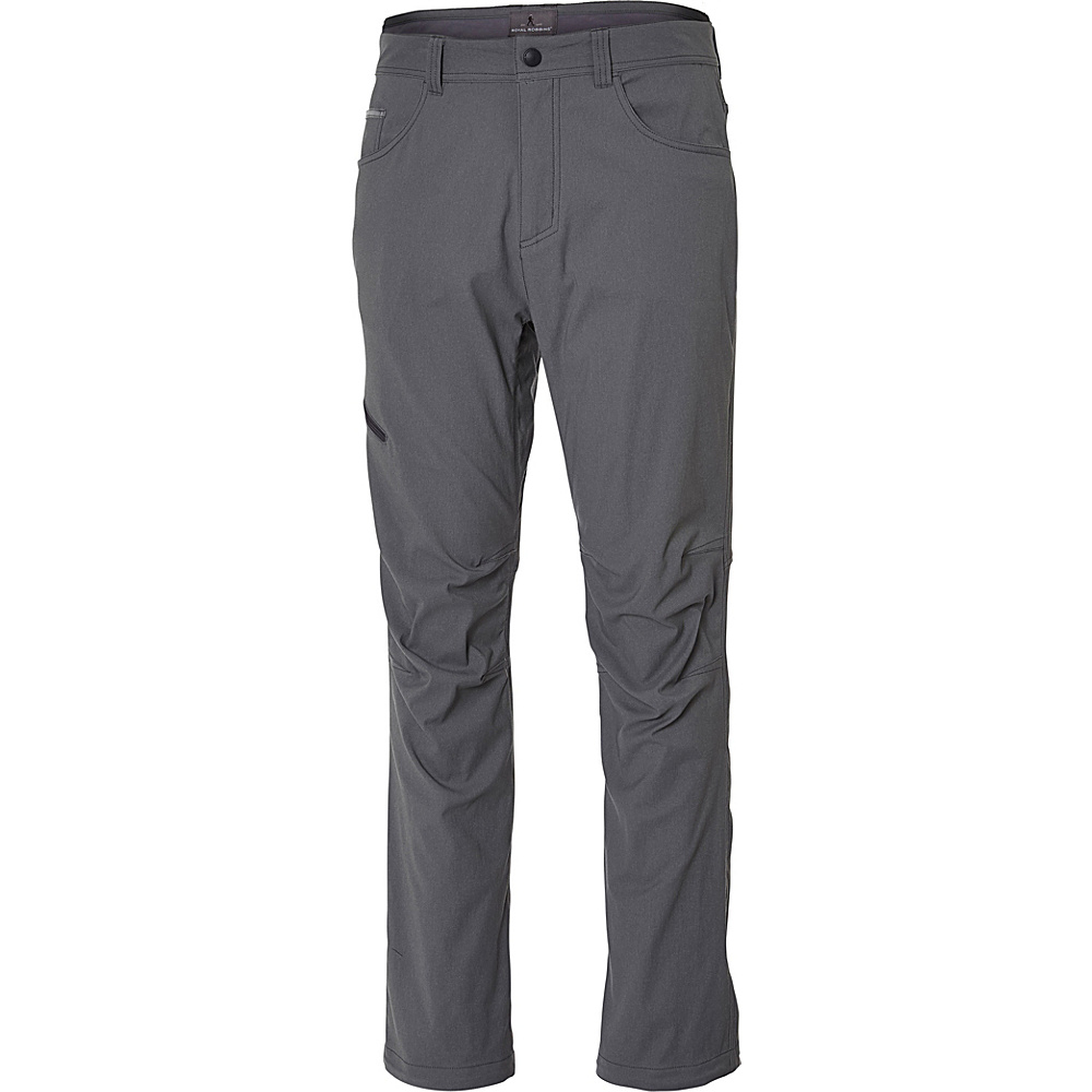 Royal Robbins Mens Alpine Road Pant 35 - 34in - Pewter - Royal Robbins Mens Apparel - Apparel & Footwear, Men's Apparel