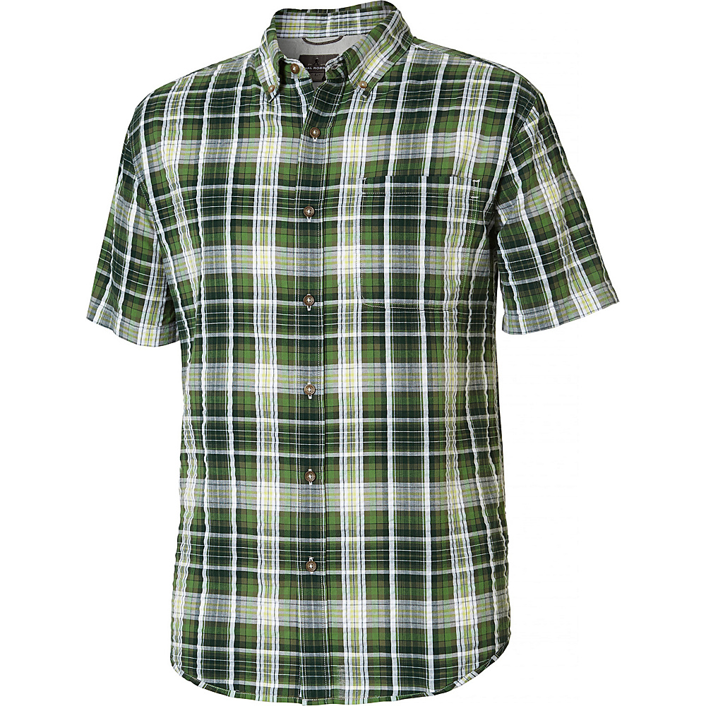 Royal Robbins MiMens d-Coast Seersucker Plaid Short Sleeve Shirt S - Garden - Royal Robbins Mens Apparel - Apparel & Footwear, Men's Apparel