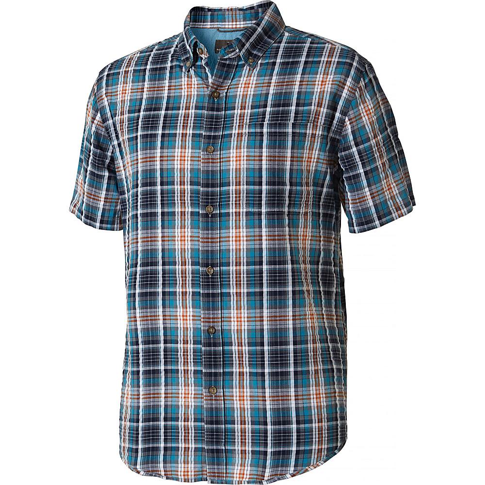 Royal Robbins MiMens d-Coast Seersucker Plaid Short Sleeve Shirt XXL - Deep Blue - Royal Robbins Mens Apparel - Apparel & Footwear, Men's Apparel