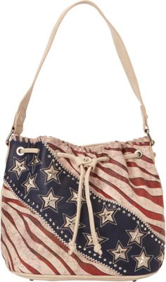 Montana West American Pride Hobo Beige - Montana West Manmade Handbags