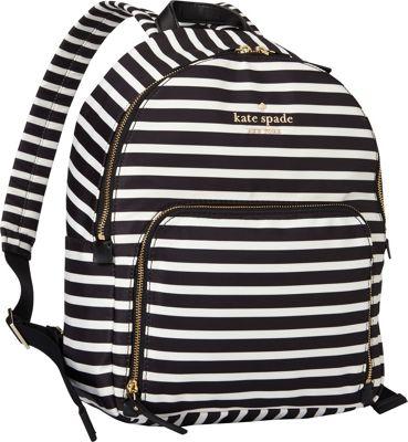 kate spade new york Watson Lane Hartley Backpack Black/Clotted Cream - kate spade new york Designer Handbags