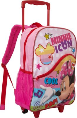 Disney Minnie Mouse Rolling Backpack Pink - Disney Wheeled Backpacks