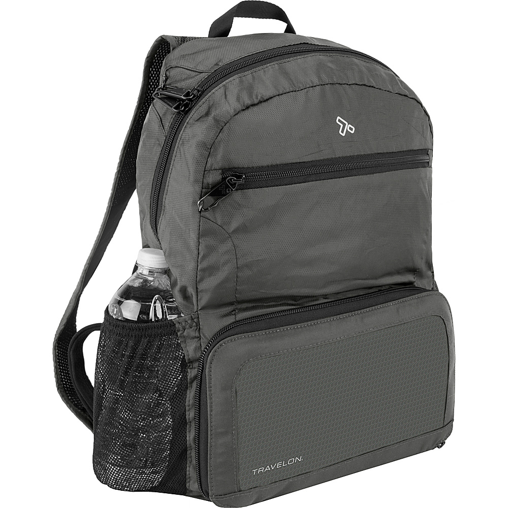 Travelon Anti-Theft Active Packable Backpack Charcoal - Travelon Packable Bags - Travel Accessories, Packable Bags