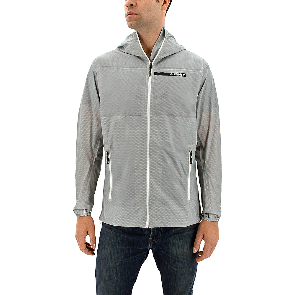 adidas outdoor Mens Fastpack 2.5l Jacket XL - Clear Onix - adidas outdoor Mens Apparel - Apparel & Footwear, Men's Apparel