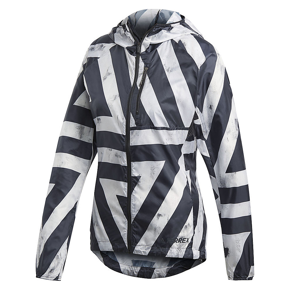 adidas outdoor Womens Agravic Wind Jacket L - White - adidas outdoor Womens Apparel - Apparel & Footwear, Women's Apparel