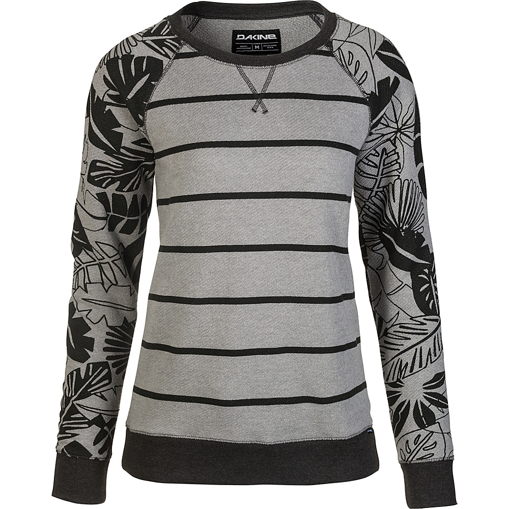 DAKINE Womens Laurel Crew Neck Fleece L - Griffin Inkwell Palm - DAKINE Womens Apparel - Apparel & Footwear, Women's Apparel