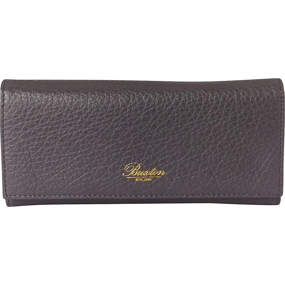 Buxton Florence Clutch Wallet Grey - Buxton Womens Wallets - Women's SLG, Women's Wallets