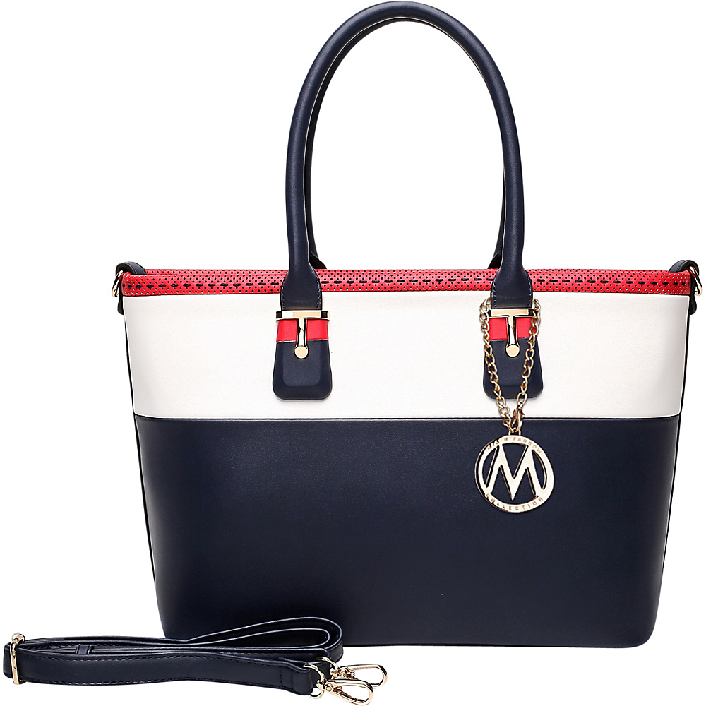 MKF Collection by Mia K. Farrow Raleigh Tote Dark Blue - MKF Collection by Mia K. Farrow Manmade Handbags - Handbags, Manmade Handbags