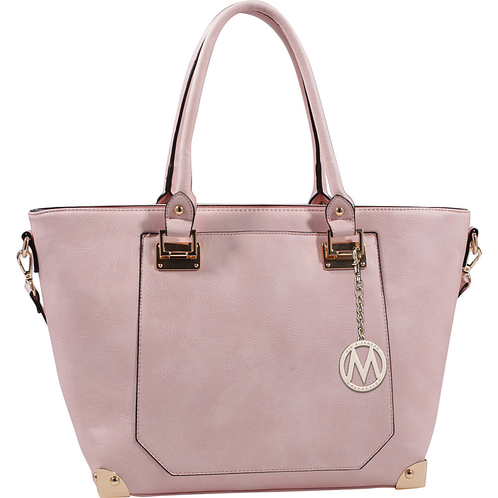 MKF Collection by Mia K. Farrow Yorkshire Tote with Shoulder Strap Blush - MKF Collection by Mia K. Farrow Manmade Handbags - Handbags, Manmade Handbags