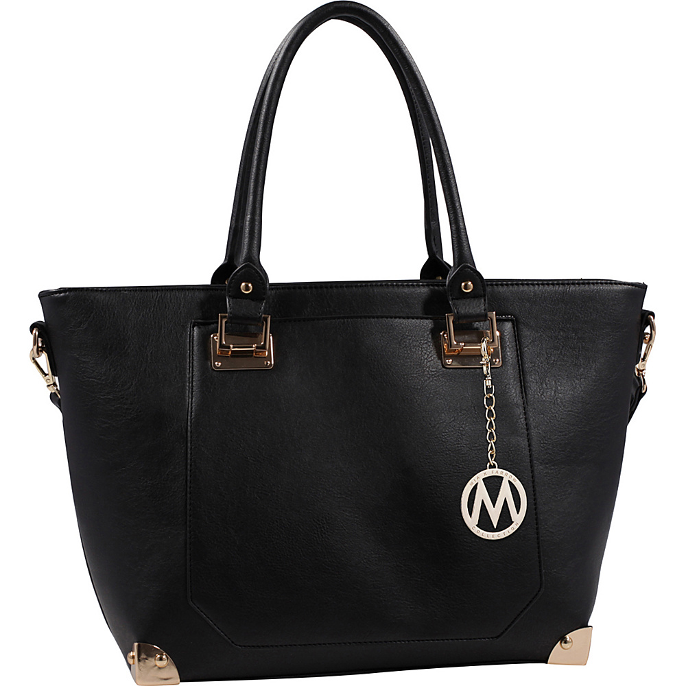MKF Collection by Mia K. Farrow Yorkshire Tote with Shoulder Strap Black - MKF Collection by Mia K. Farrow Manmade Handbags - Handbags, Manmade Handbags