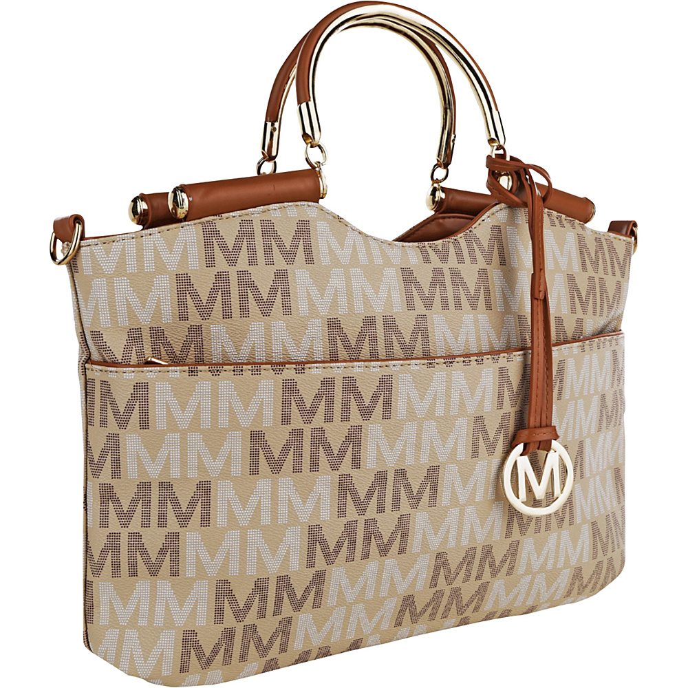 MKF Collection by Mia K. Farrow Mayra M Signature Tote Taupe - MKF Collection by Mia K. Farrow Manmade Handbags - Handbags, Manmade Handbags