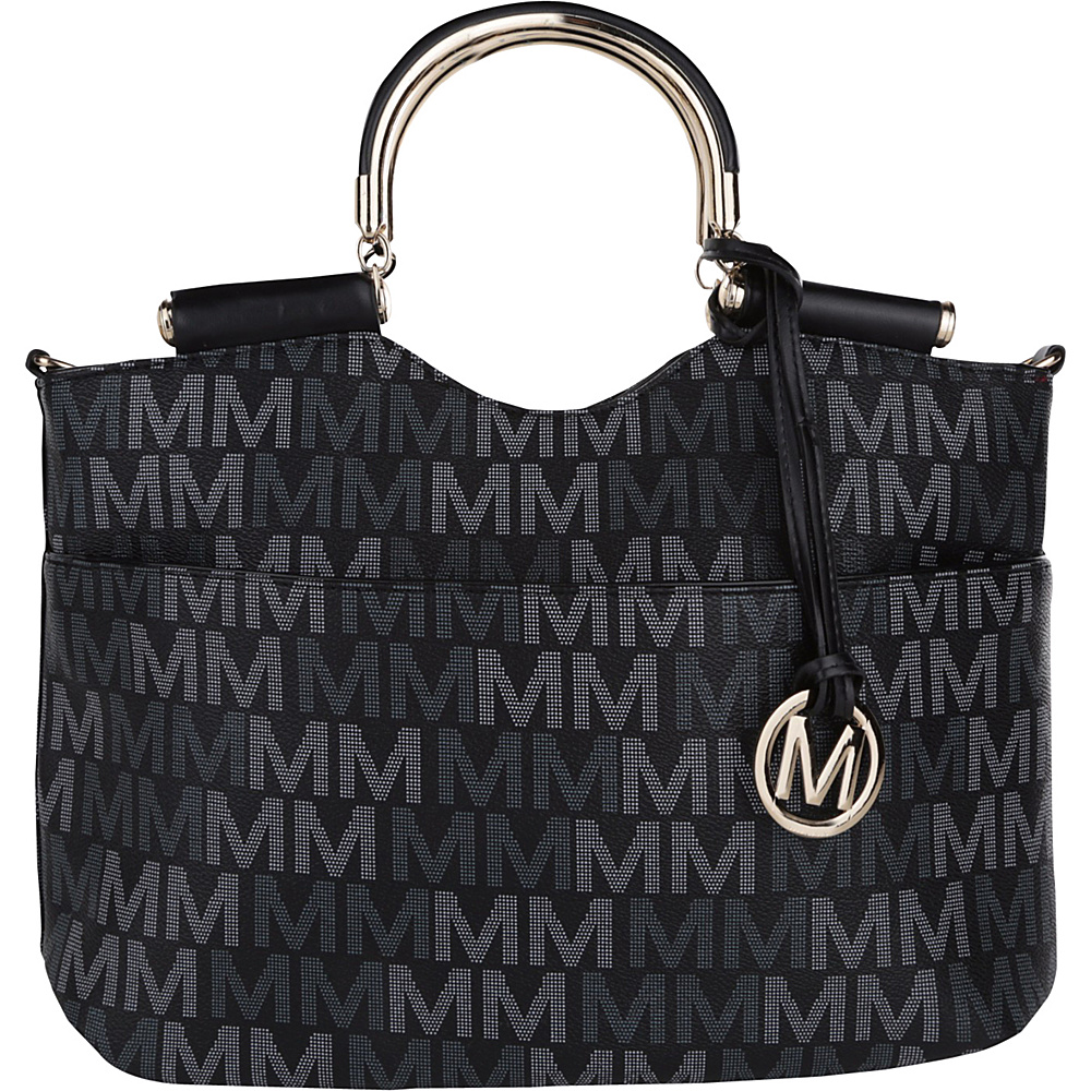 MKF Collection by Mia K. Farrow Mayra M Signature Tote Black - MKF Collection by Mia K. Farrow Manmade Handbags - Handbags, Manmade Handbags