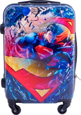 DC Comics Superman 21 Inch Spinner Rolling Carry-On MULTI COLOR - DC Comics Hardside Carry-On