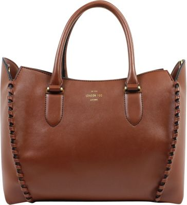 London Fog Handbags Whitby Tote Russet - London Fog Handbags Manmade Handbags
