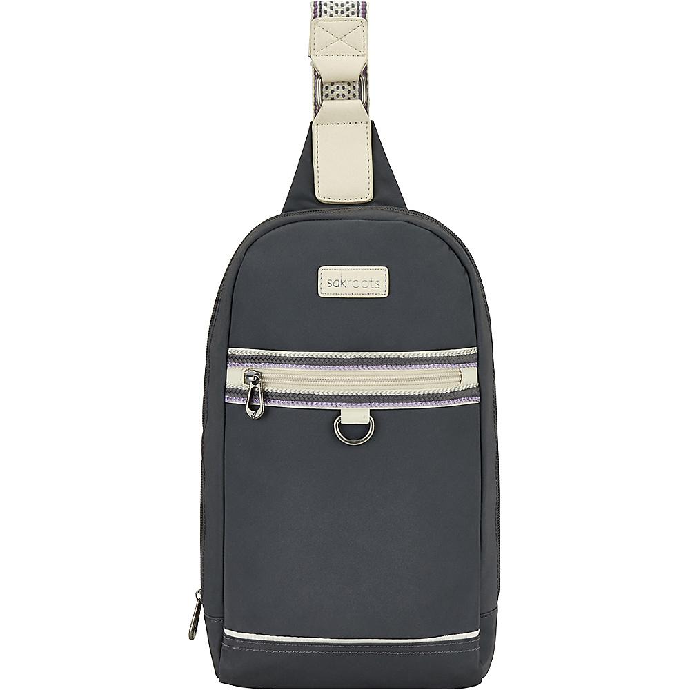 Sakroots New Adventure Hiker Sling Backpack Charcoal - Sakroots Backpacking Packs - Outdoor, Backpacking Packs