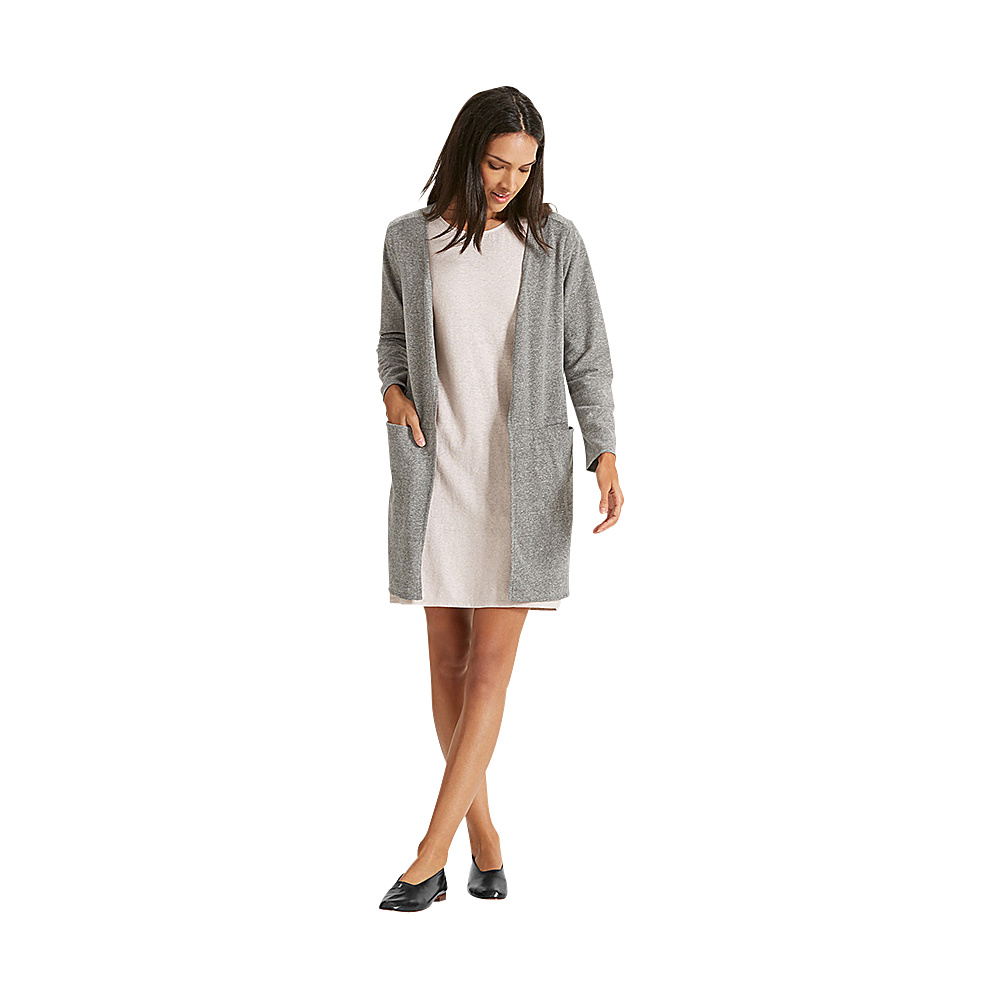 NAU Clothing Womens Long Sleeve Slublime Cardigan XS - Tarmac Heather - NAU Clothing Womens Apparel - Apparel & Footwear, Women's Apparel