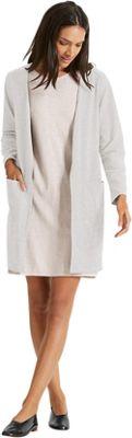 NAU Clothing Womens Long Sleeve Slublime Cardigan S - Frost Heather - NAU Clothing Women's Apparel
