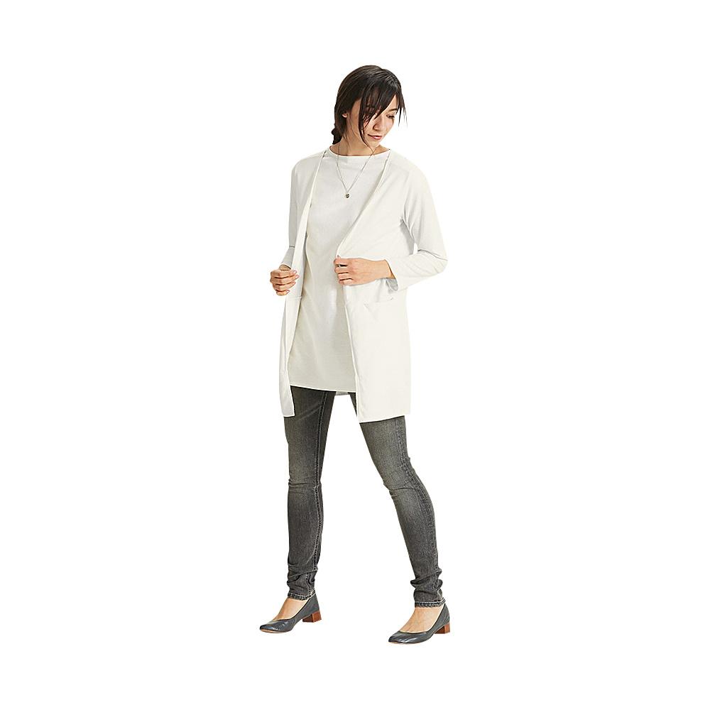 NAU Clothing Womens Long Sleeve Slublime Cardigan M - Poplar - NAU Clothing Womens Apparel - Apparel & Footwear, Women's Apparel