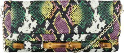 Elaine Turner Simona Clutch Tropicana Python - Elaine Turner Manmade Handbags