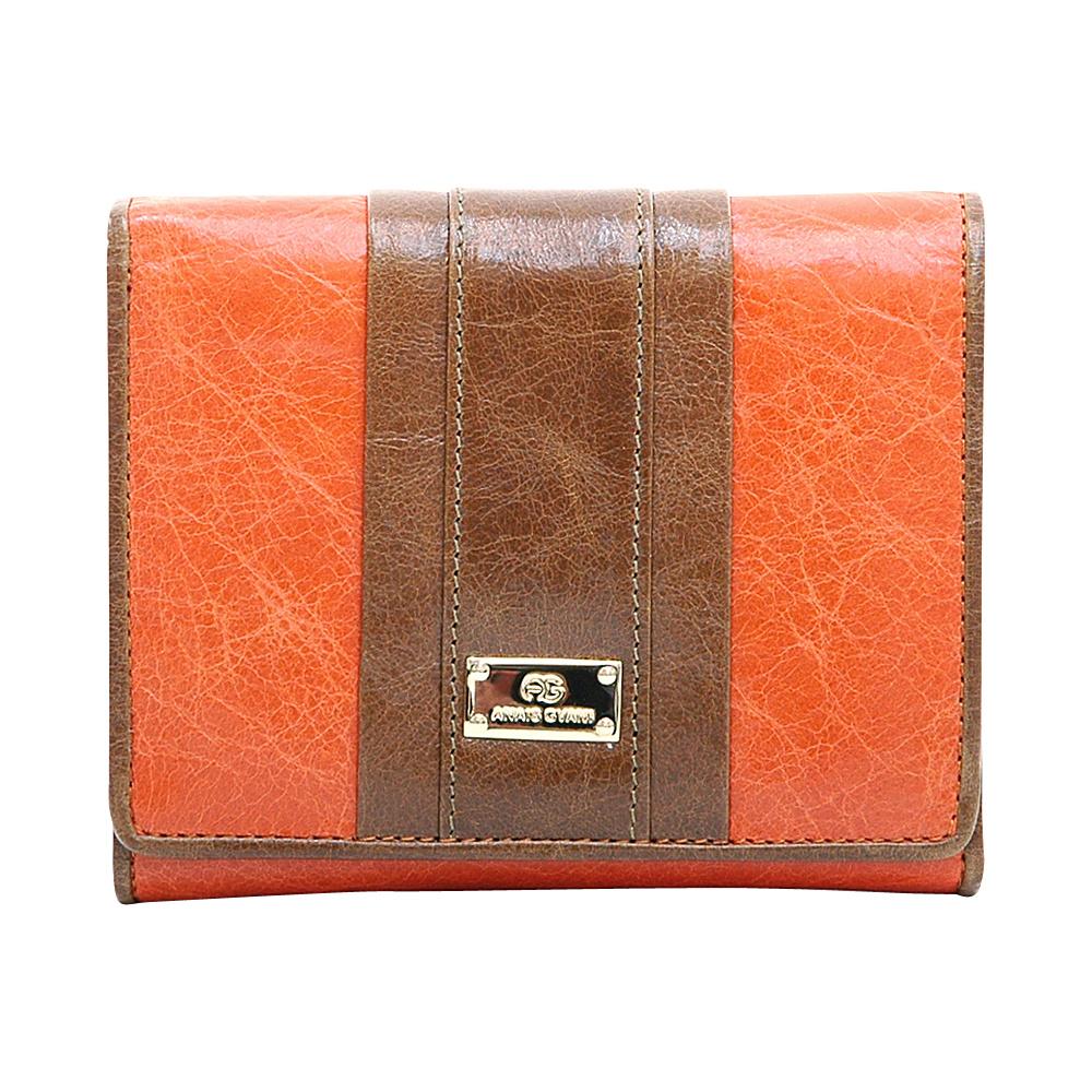 Dasein Womens Petite Color Block Tri-Fold Wallet Orange/Brown - Dasein Womens Wallets - Women's SLG, Women's Wallets