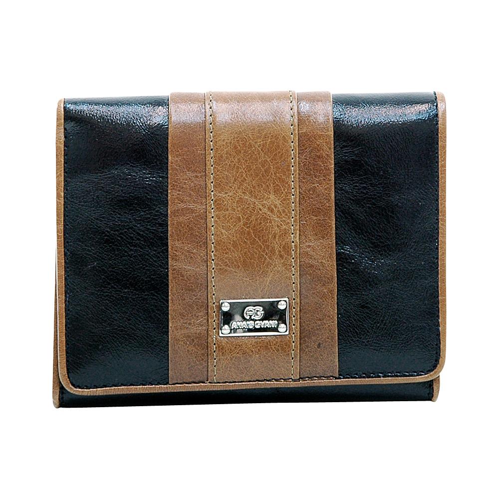 Dasein Womens Petite Color Block Tri-Fold Wallet Black/Brown - Dasein Womens Wallets - Women's SLG, Women's Wallets