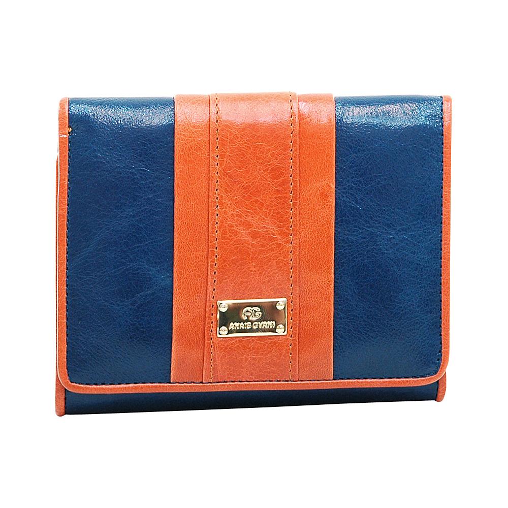 Dasein Womens Petite Color Block Tri-Fold Wallet Blue/Orange - Dasein Womens Wallets - Women's SLG, Women's Wallets