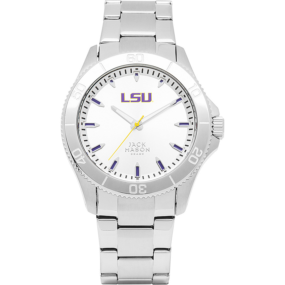 Jack Mason League NCAA Silver Dial Bracelet Watch LSU Tigers - Jack Mason League Watches - Fashion Accessories, Watches