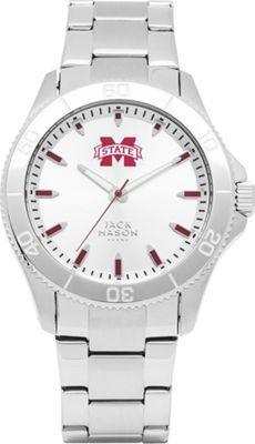 Jack Mason League NCAA Silver Dial Bracelet Watch Mississippi State Bulldogs - Jack Mason League Watches