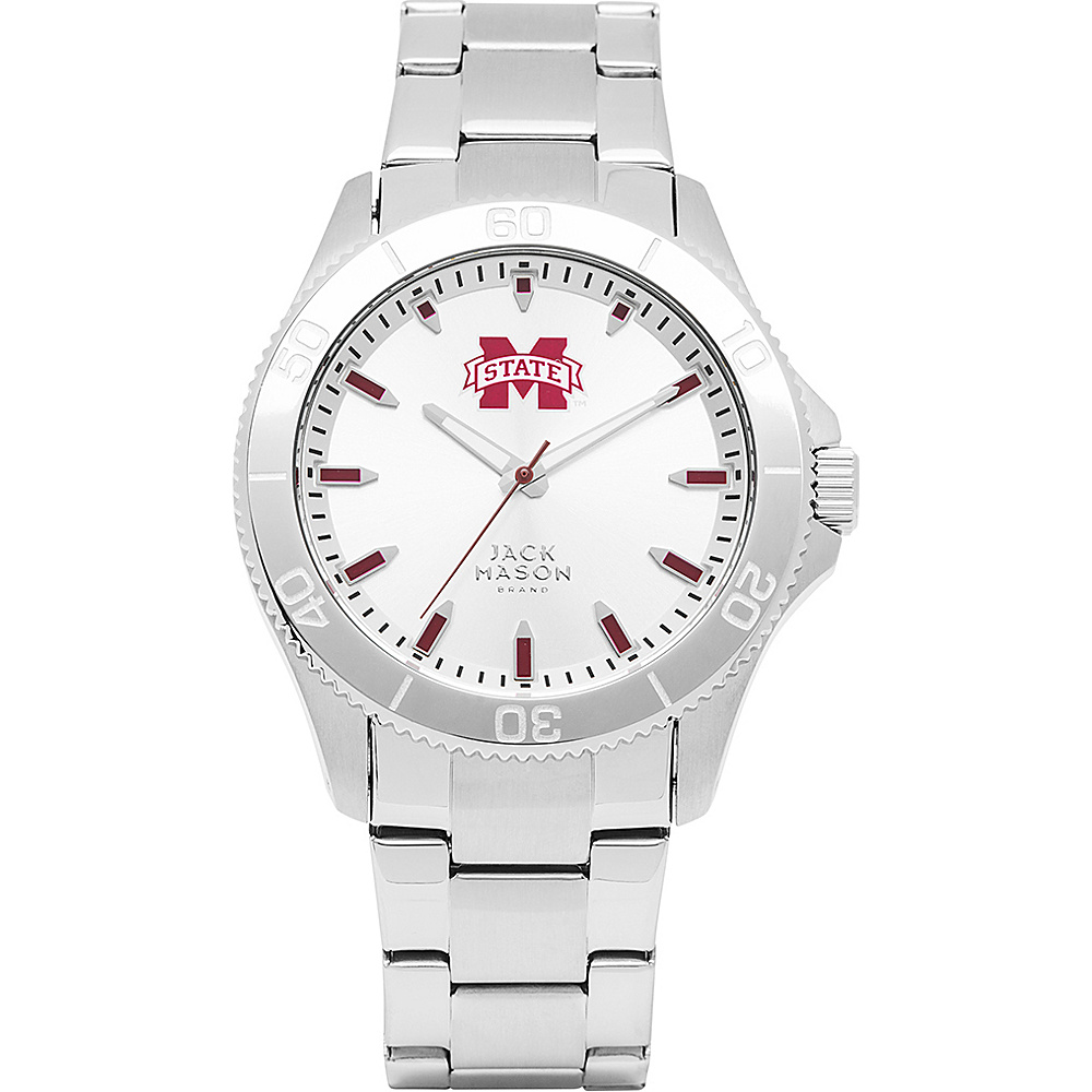 Jack Mason League NCAA Silver Dial Bracelet Watch Mississippi State Bulldogs - Jack Mason League Watches - Fashion Accessories, Watches
