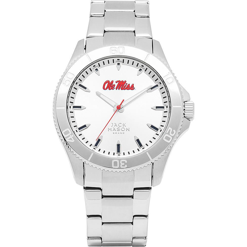 Jack Mason League NCAA Silver Dial Bracelet Watch Ole Miss Rebels - Jack Mason League Watches - Fashion Accessories, Watches