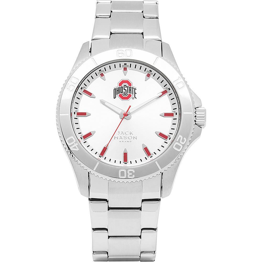 Jack Mason League NCAA Silver Dial Bracelet Watch Ohio State Buckeyes - Jack Mason League Watches - Fashion Accessories, Watches